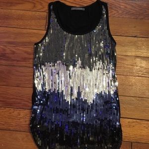 Suzy Shier sequined tank top, size XS